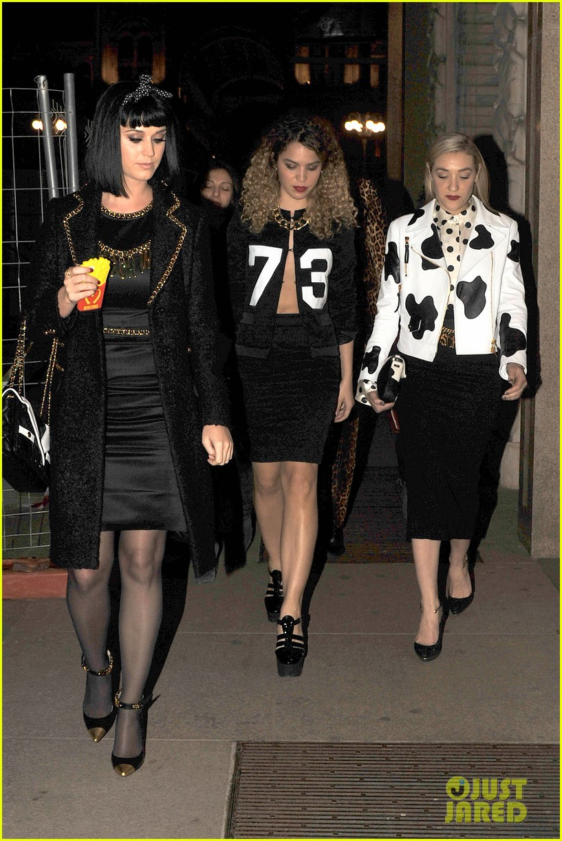 katy perry rita ora walk runway in moschino fashion show 19