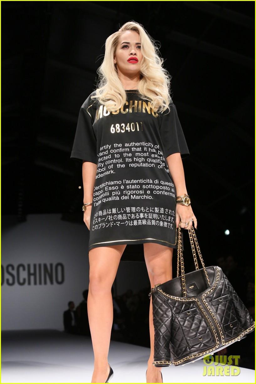 katy perry rita ora walk runway in moschino fashion show 373057418