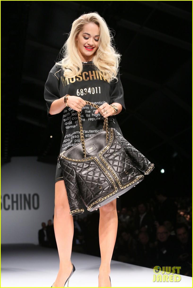 katy perry rita ora walk runway in moschino fashion show 403057421