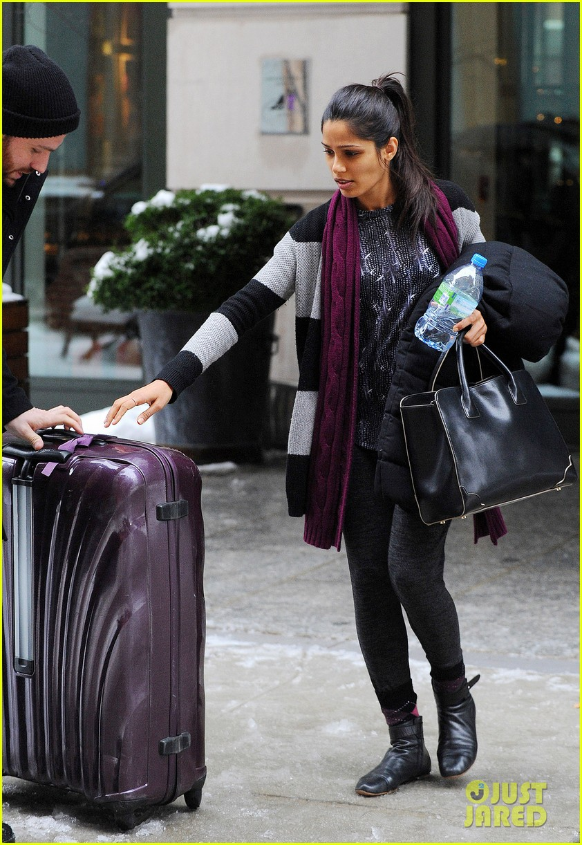 freida pinto laughs off giant snow slush piles in nyc 013053338