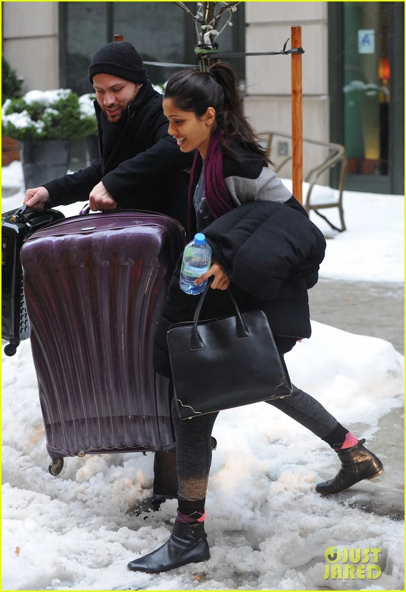 freida pinto laughs off giant snow slush piles in nyc 063053343