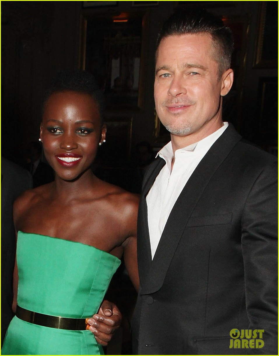 angelina jolie brad pitt baftas after party with lupita nyongo 013054924