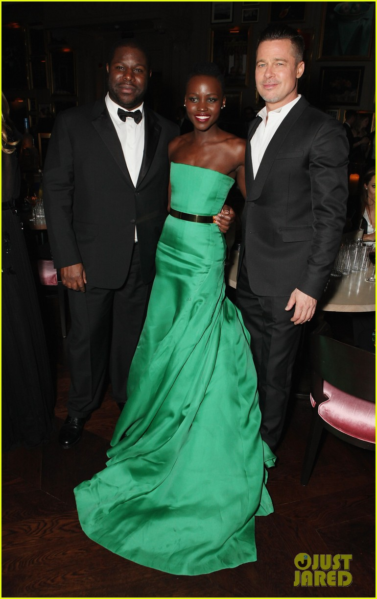angelina jolie brad pitt baftas after party with lupita nyongo 043054927