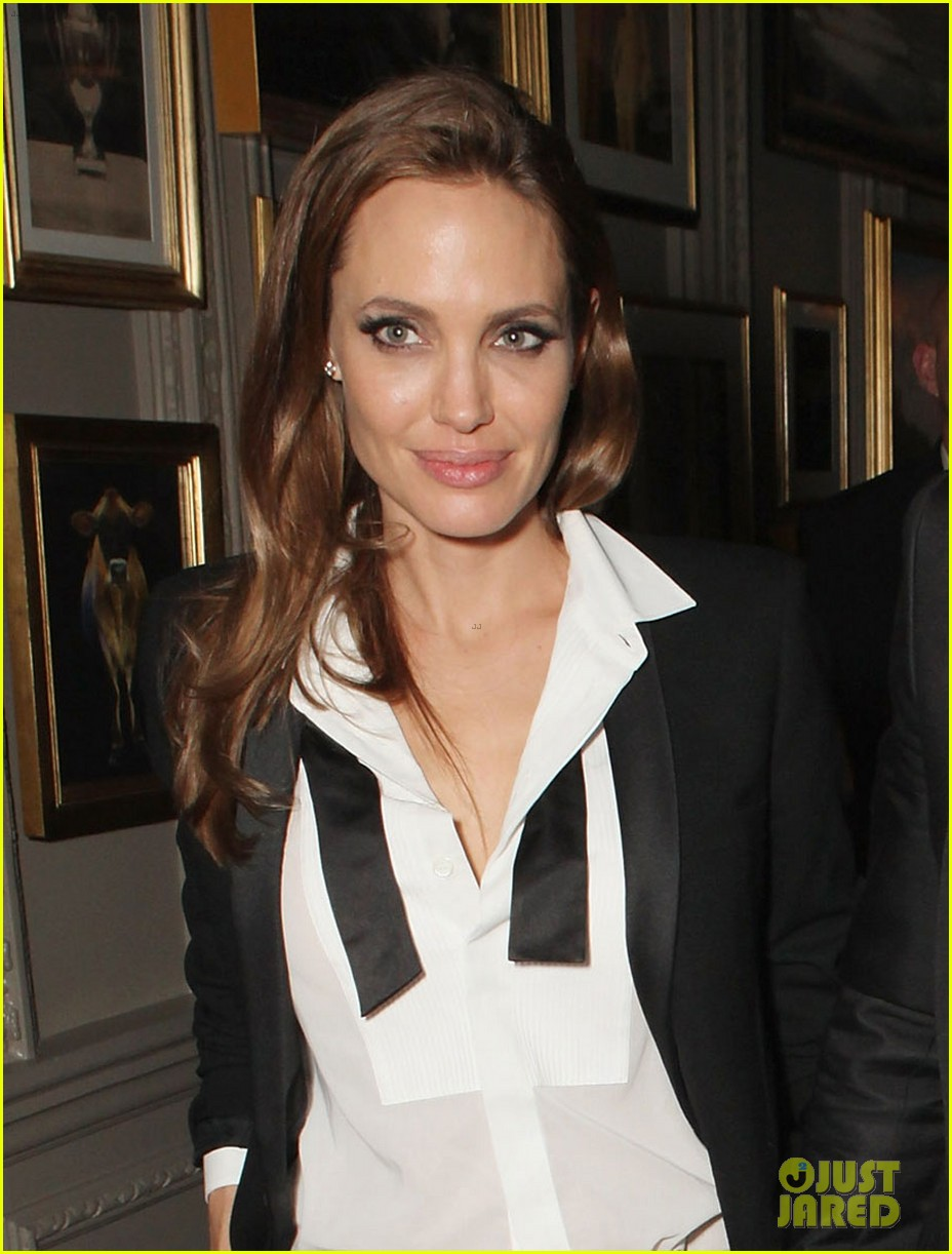 angelina jolie brad pitt baftas after party with lupita nyongo 053054928