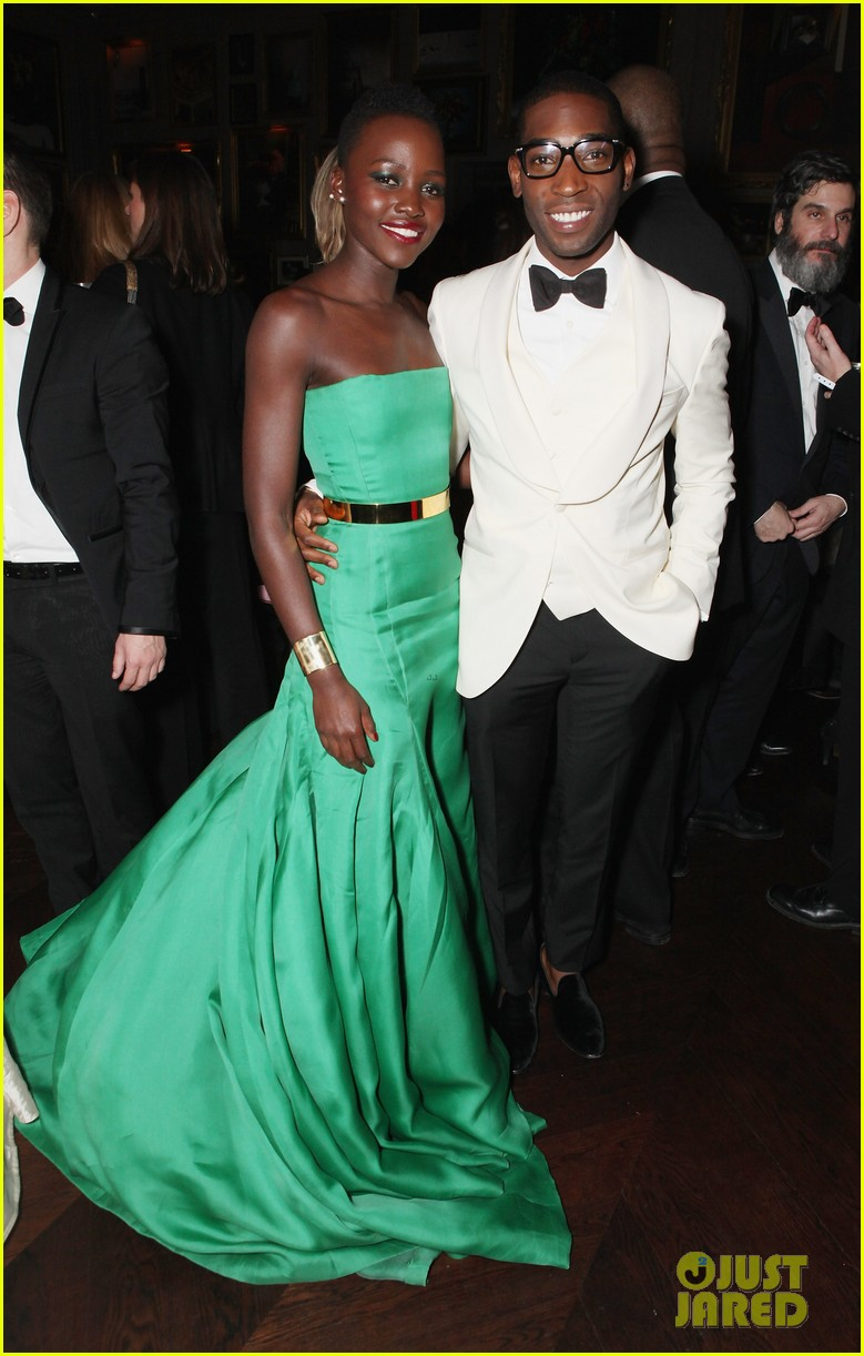 angelina jolie brad pitt baftas after party with lupita nyongo 093054932
