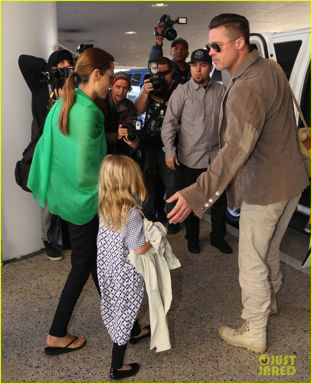 angelina jolie brad pitt all six kids land in los angeles see the new pics 203047997