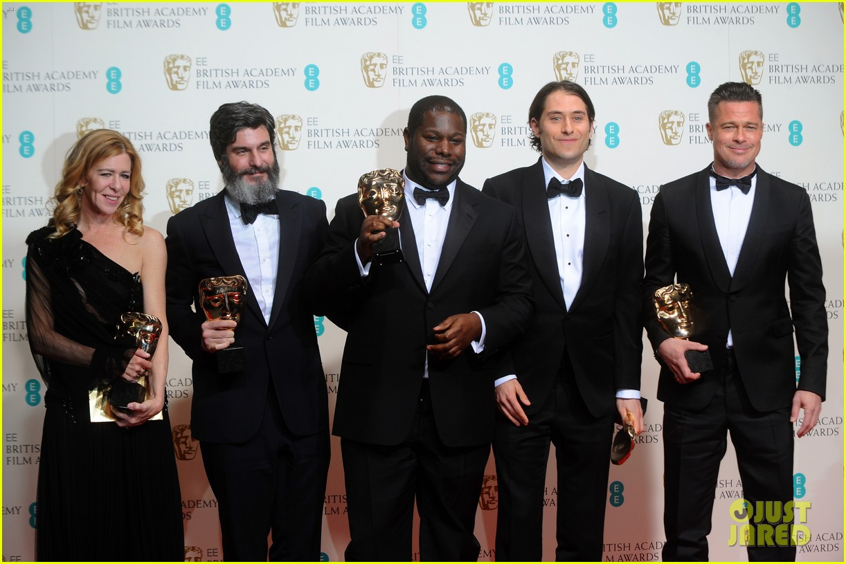 brad pitt wins best film at baftas 2014 watch video here 073054701