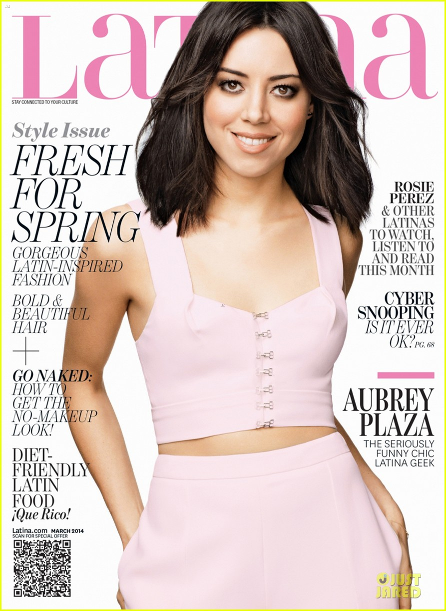 aubrey plaza bares midriff for latina magazine march 2014 issue 013053946