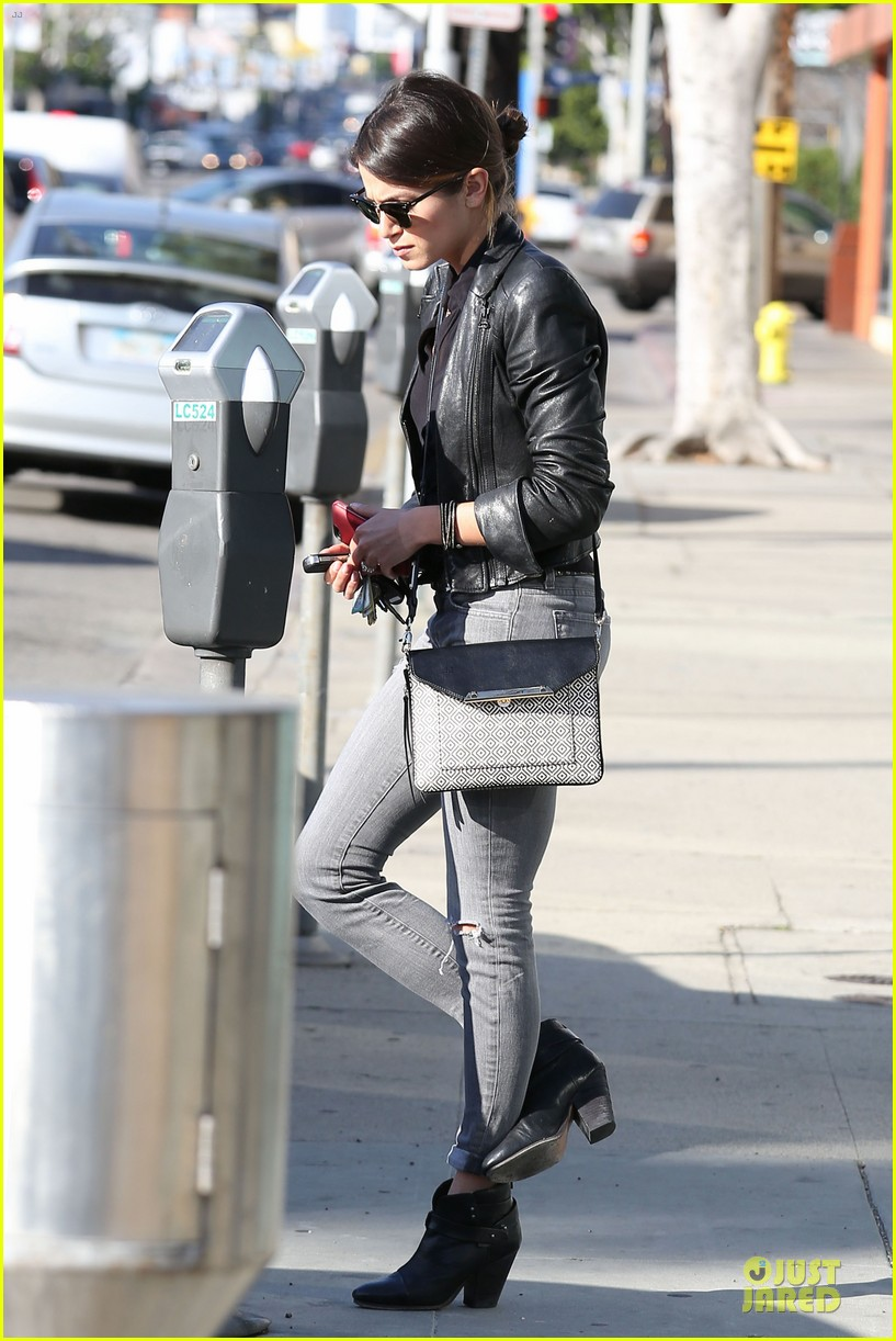 nikki reed rocks leather for spot shopping 213058518