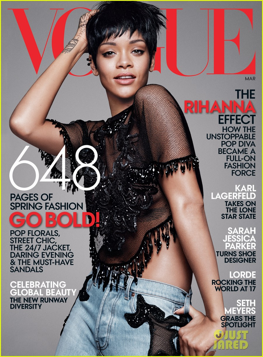 rihanna covers vogue march 2014 third cover with the mag 013055650