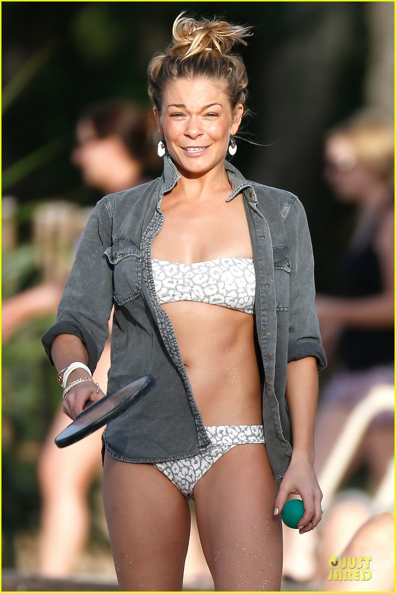 leann rimes rocks white bikini on super bowl sunday 173046635