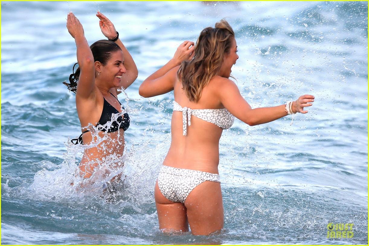 leann rimes rocks white bikini on super bowl sunday 373046655
