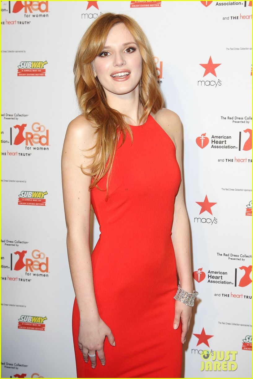 annasophia robb kat graham red dress fashion show 173048883