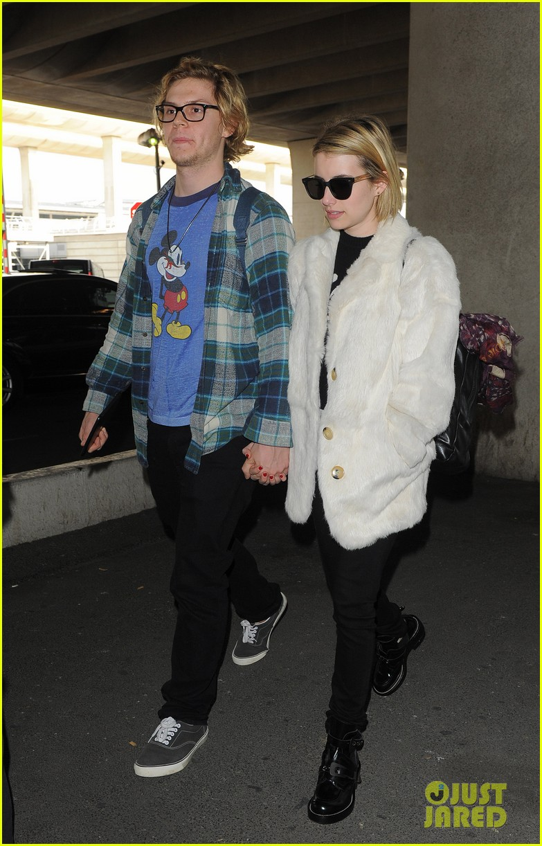 emma roberts evan peters touchdown in paris 023060876
