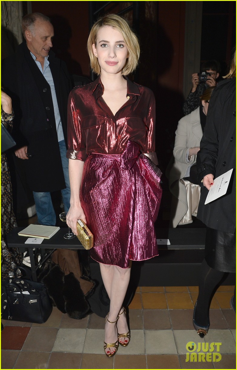 emma roberts evan peters skip oscars madness for paris fashion week fun 013061786