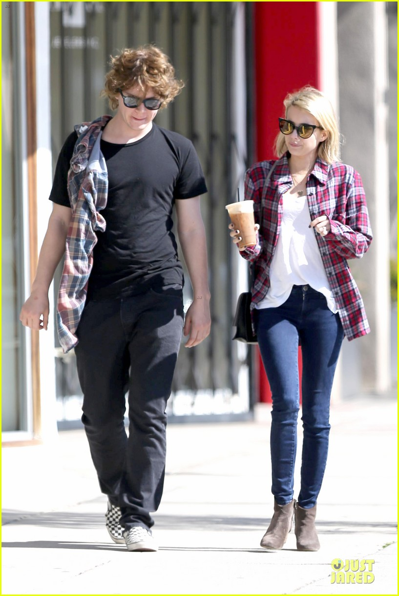 emma roberts toasts 23rd birthday with evan peters 173051170