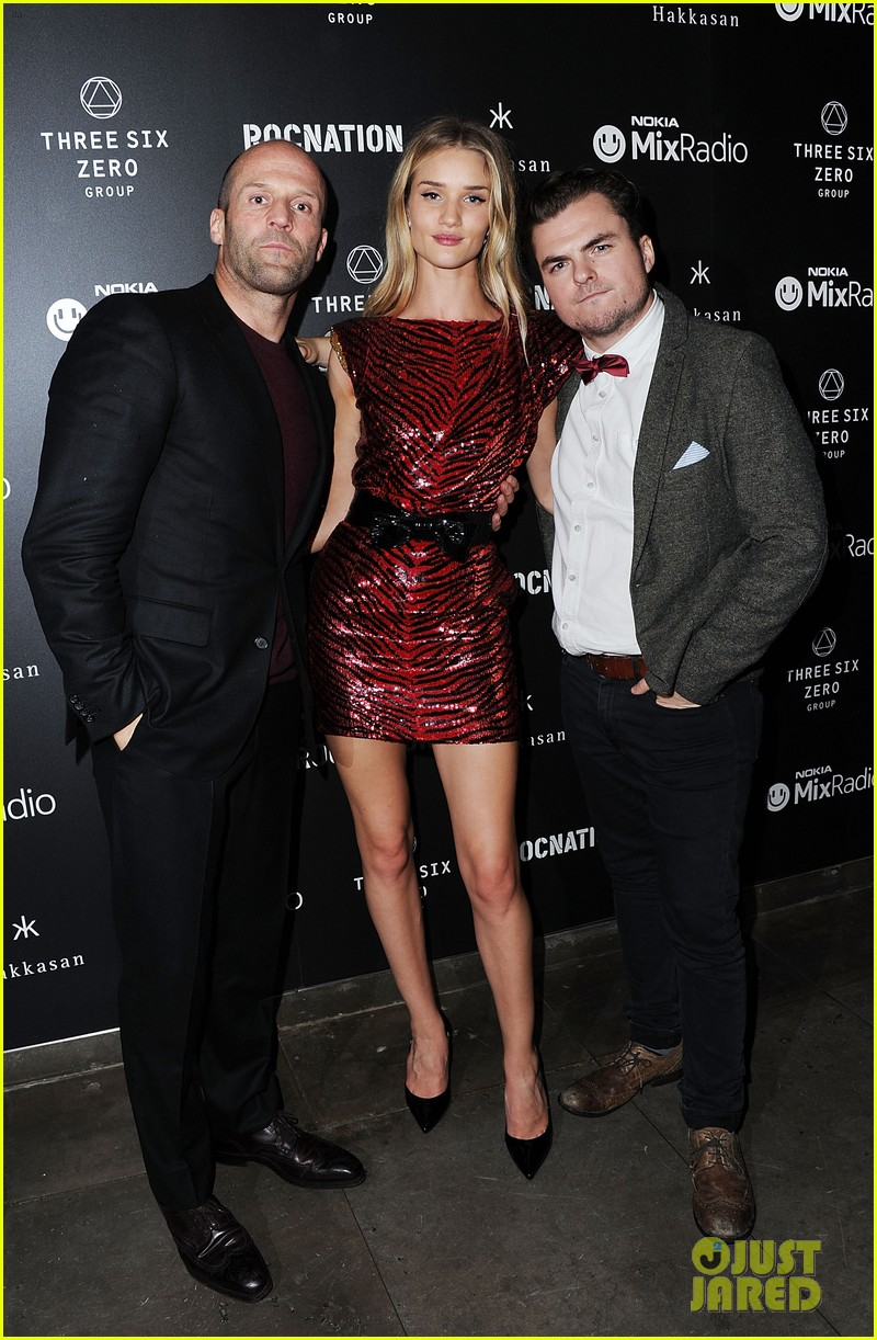 jason statham joins rosie huntington whiteley at brits party 093056857