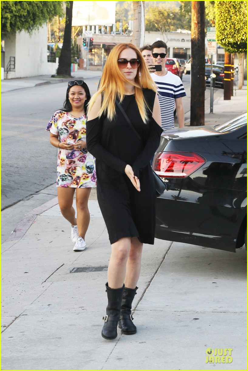 rumer willis rocks lighter hair at andy lecompte salon 123053523