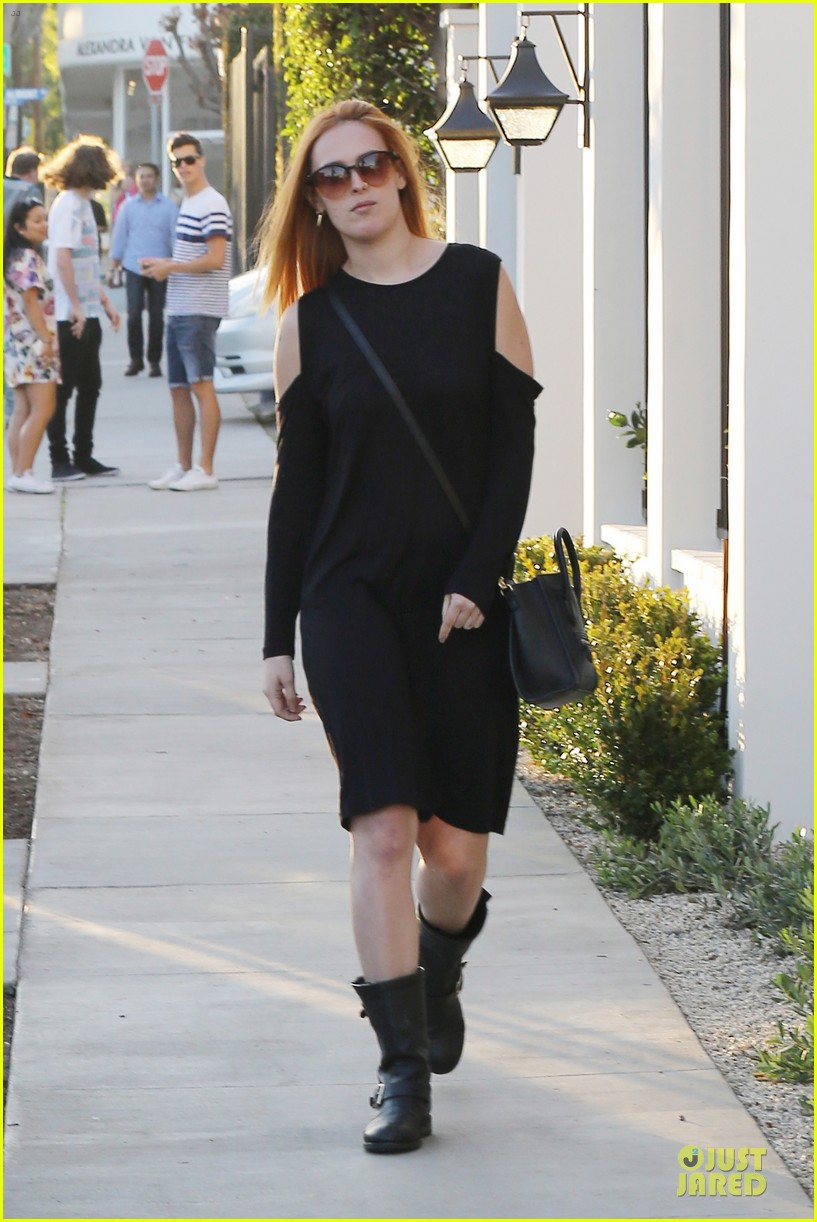 rumer willis rocks lighter hair at andy lecompte salon 203053531