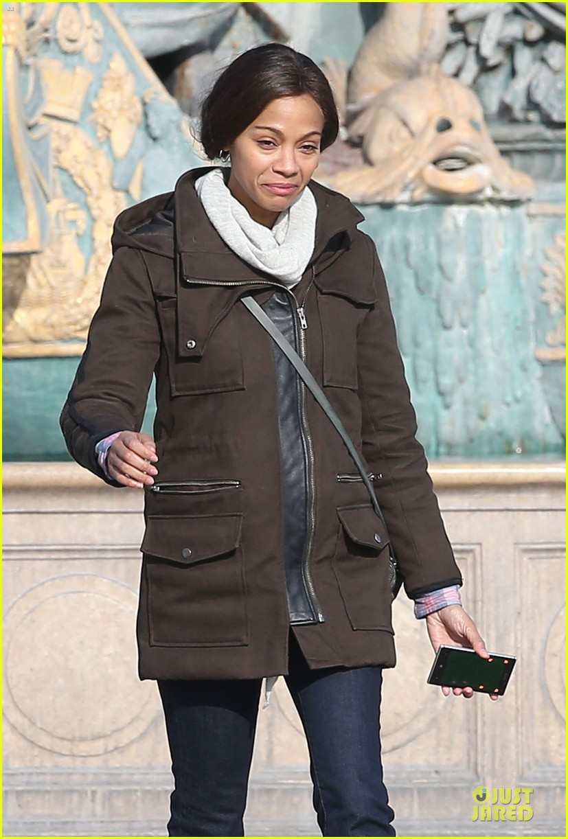 zoe saldana bundled for rosemary baby set 353045334