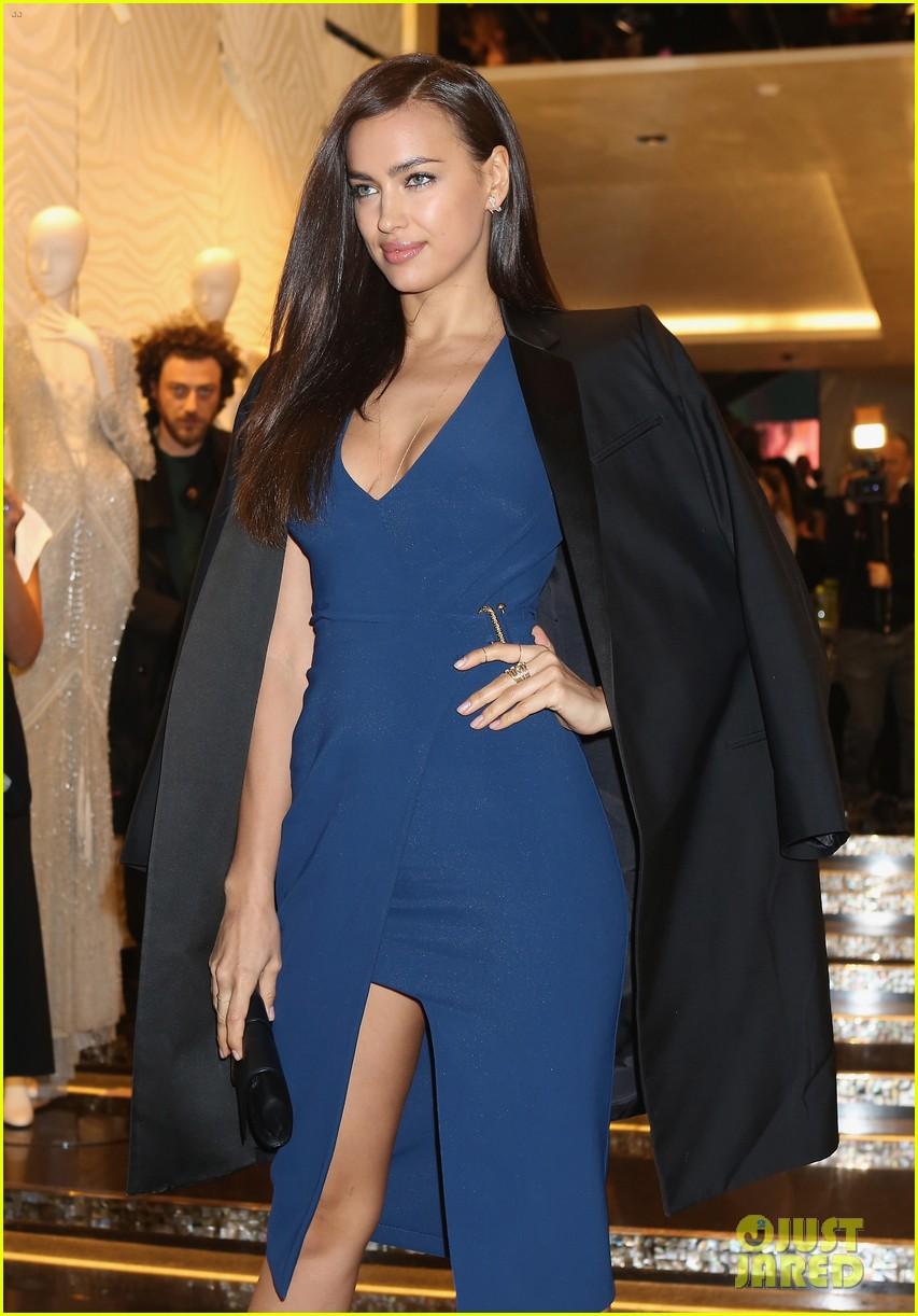 samantha barks irina shayk robert cavalli milan boutique opening 09