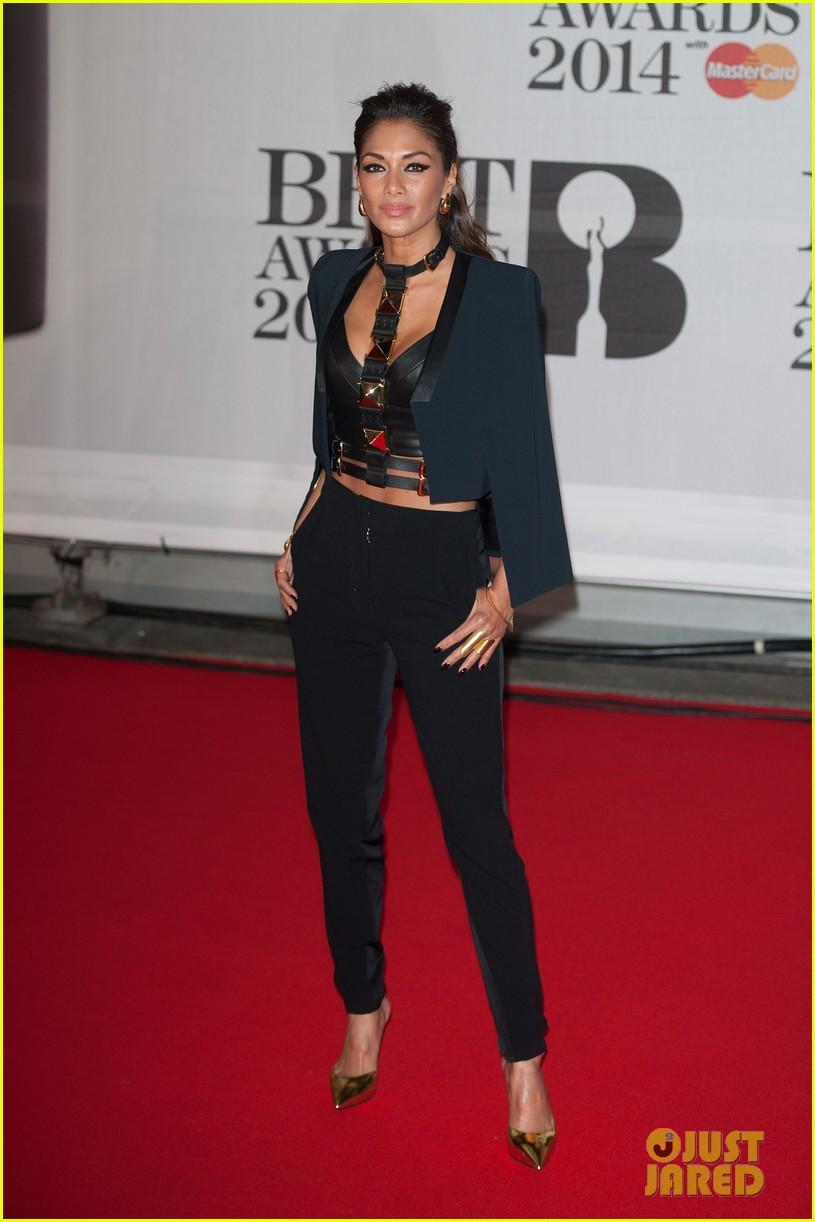 nicole scherzinger brit awards 2014 red carpet 043056312