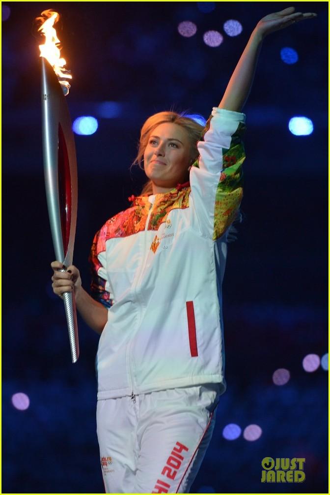 maria sharapova irina shayk sochi olympics 2014 opening ceremony 023049554