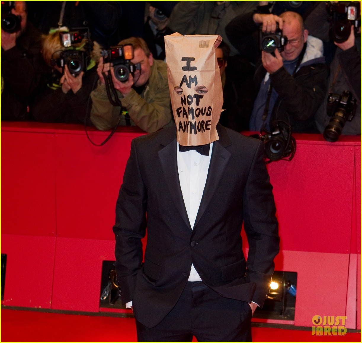 shia labeouf wears paper bag over his head for nymphomaniac berlin premiere 033050231