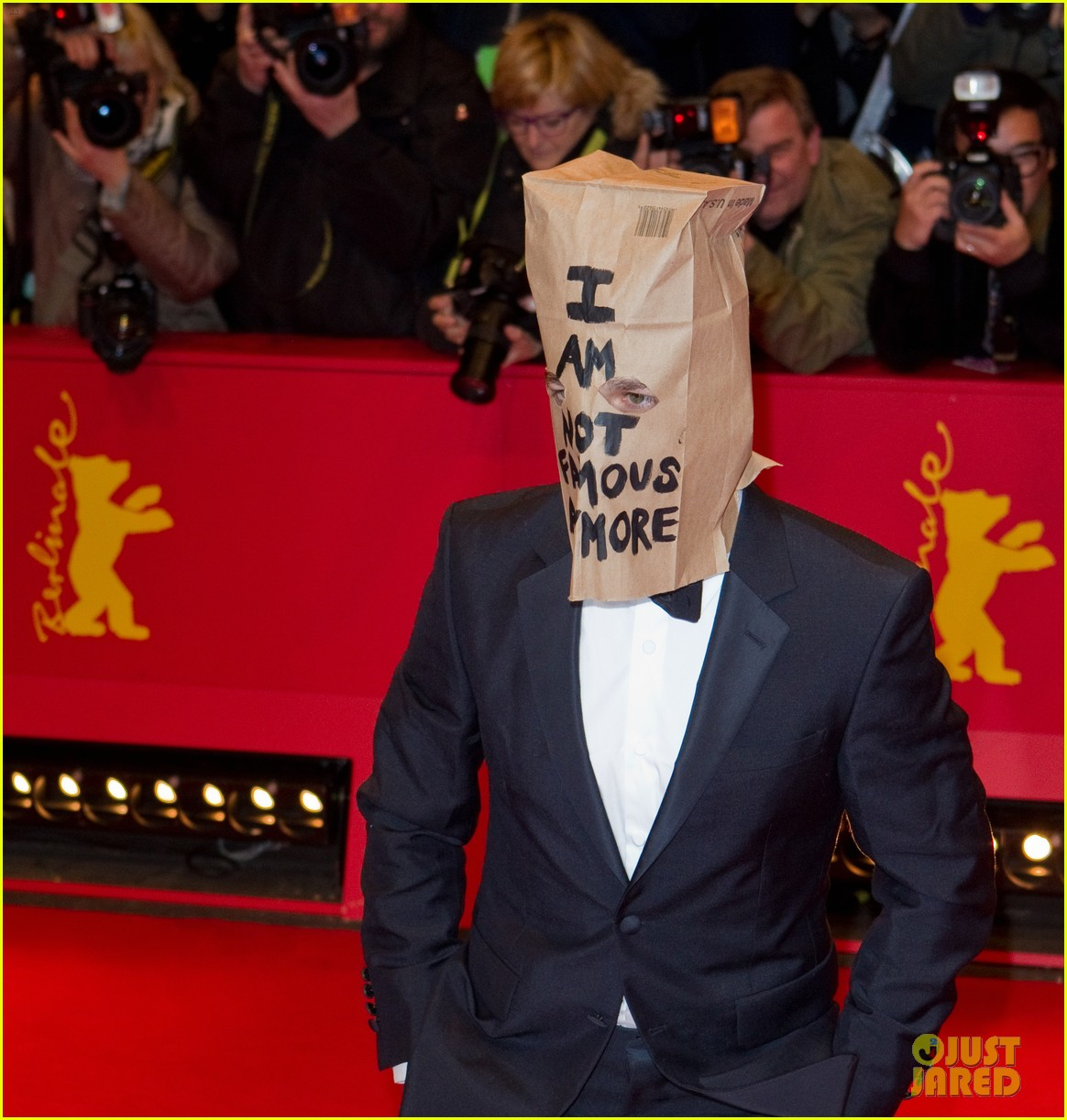 shia labeouf wears paper bag over his head for nymphomaniac berlin premiere 063050234