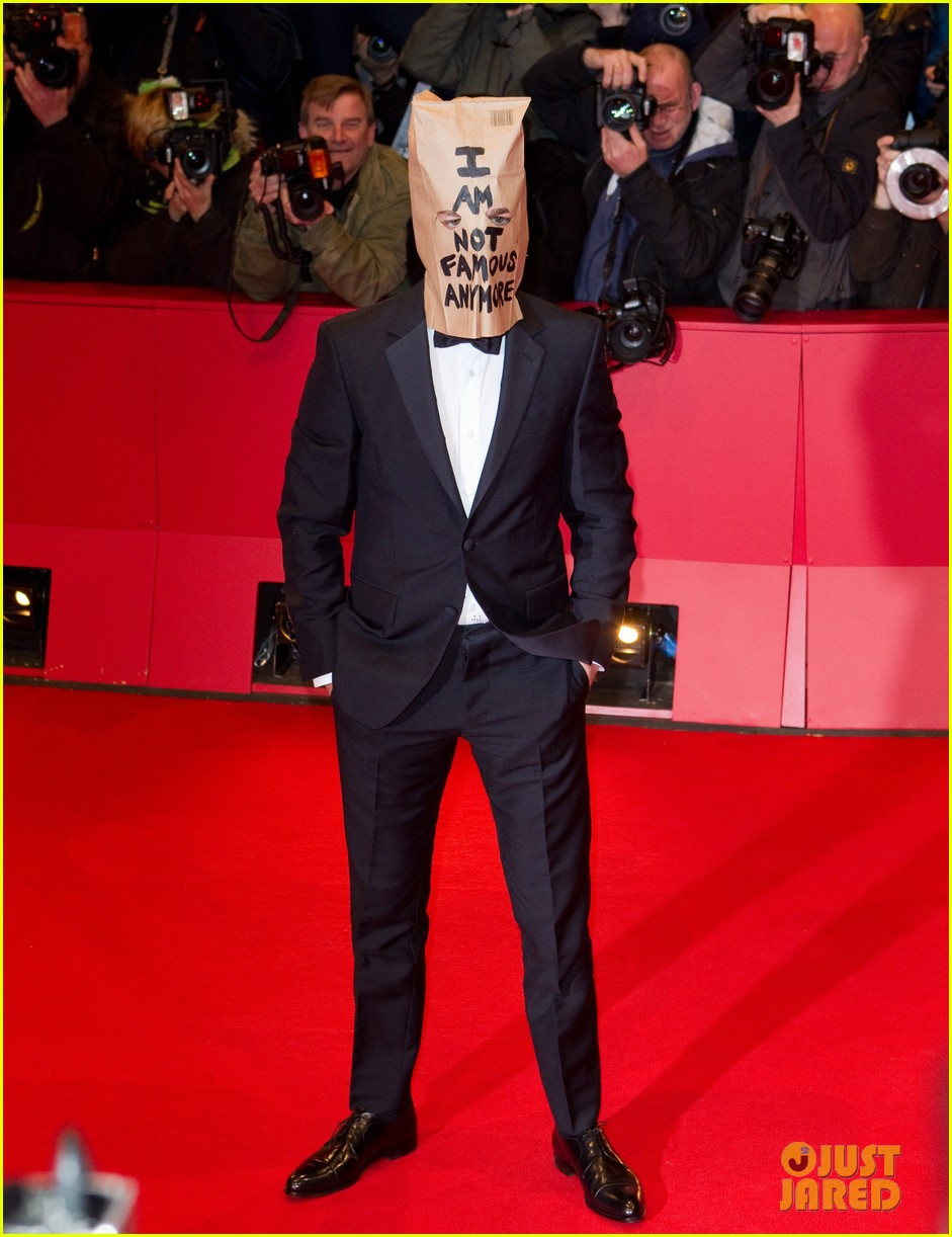shia labeouf wears paper bag over his head for nymphomaniac berlin premiere 083050236