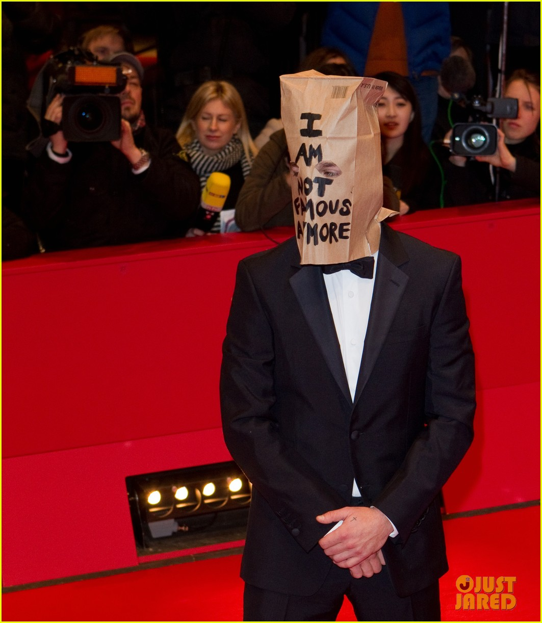 shia labeouf wears paper bag over his head for nymphomaniac berlin premiere 113050239