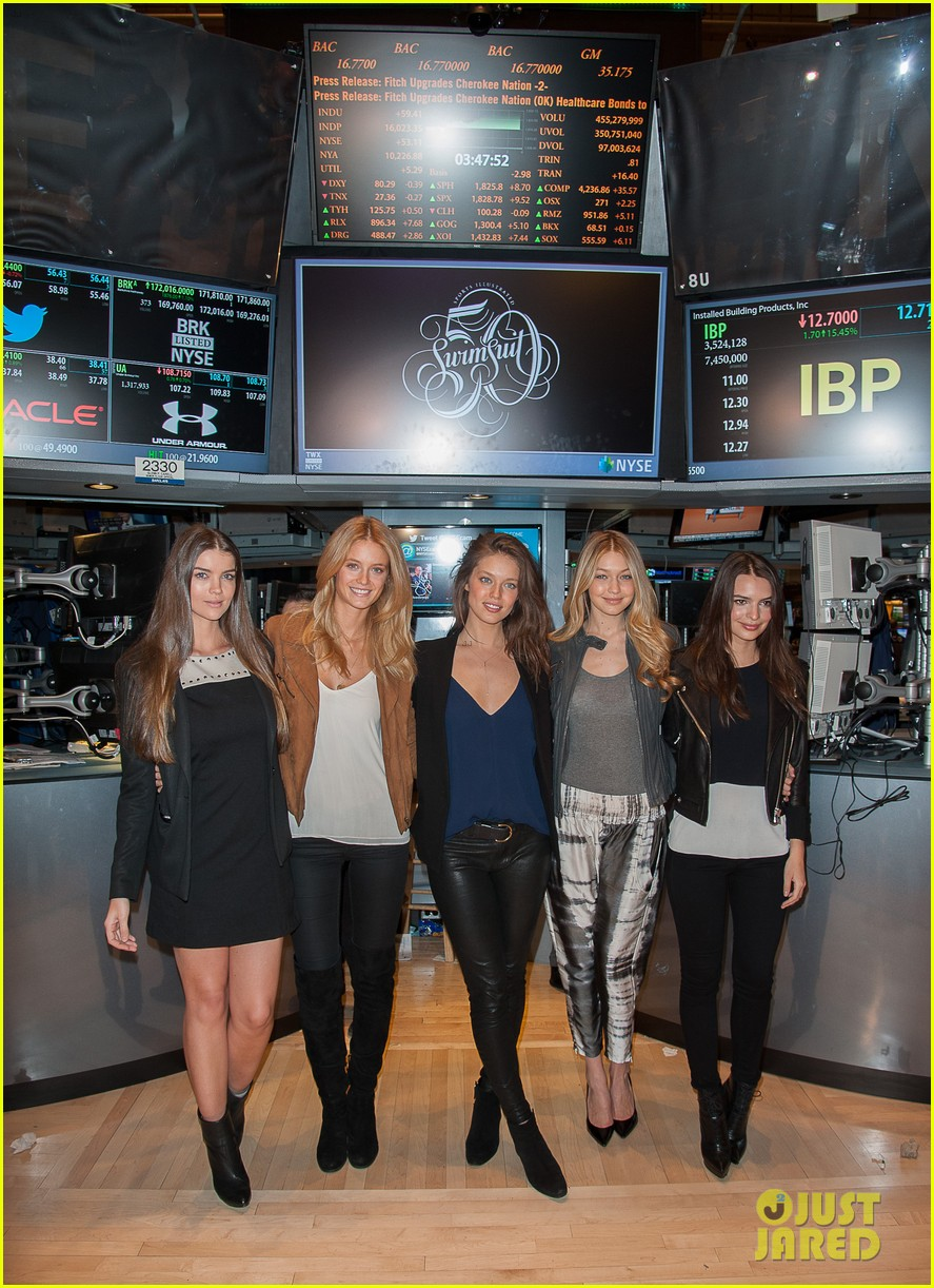 sports illustrated swimsuit models ring stock exchange bell 01
