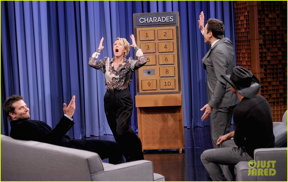 bradley cooper emma thompson play charades on fallon 10