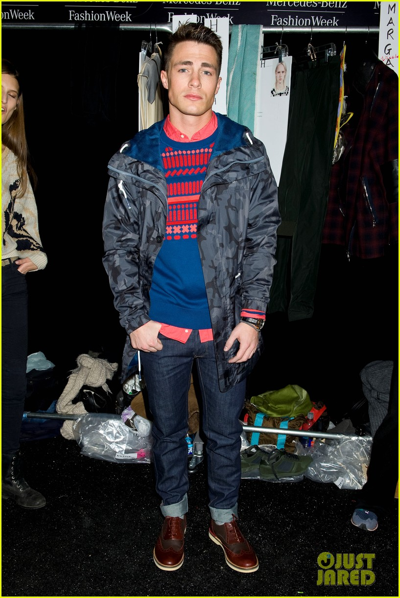 bella thorne colton haynes lacoste fashion show 07