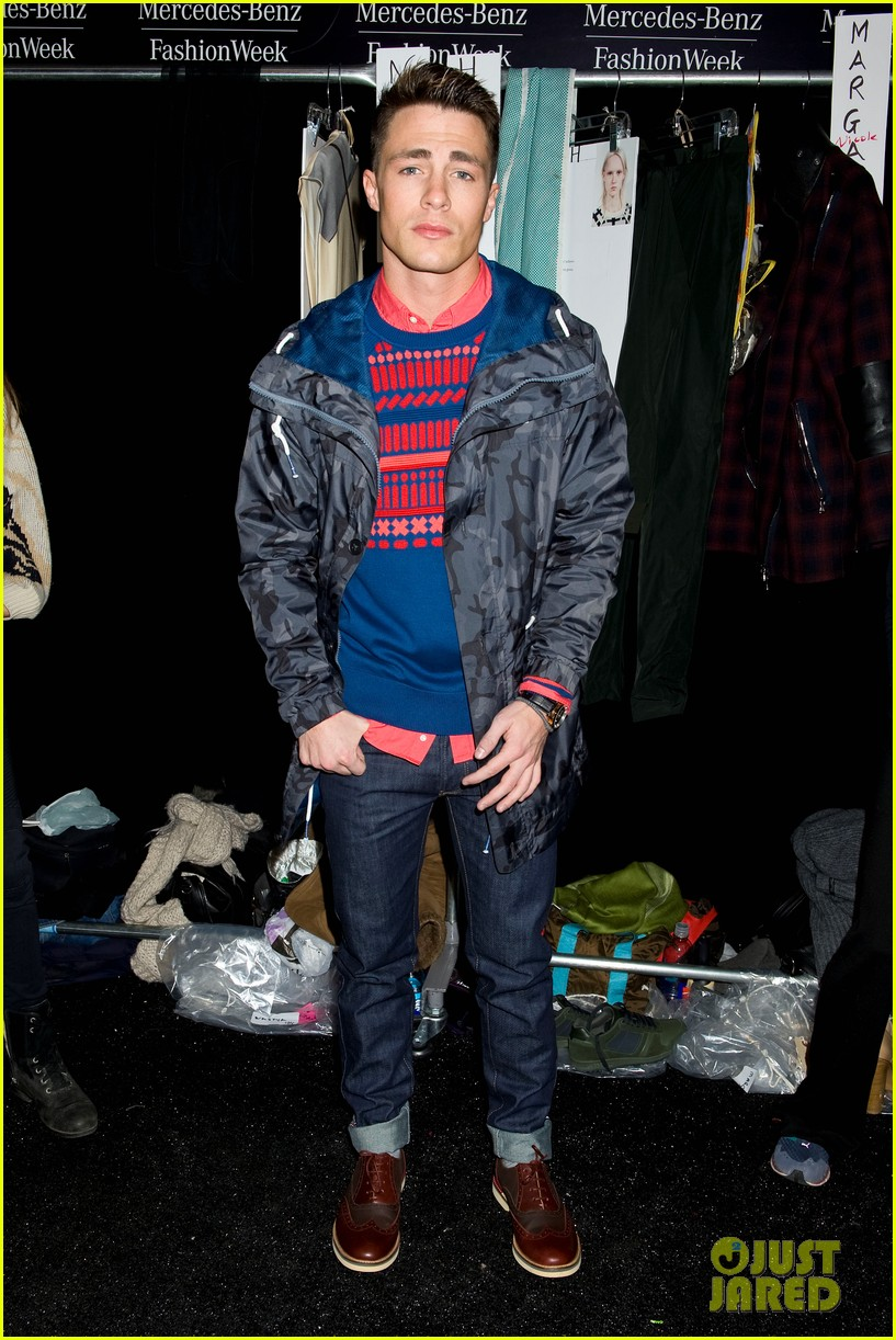 bella thorne colton haynes lacoste fashion show 083049749