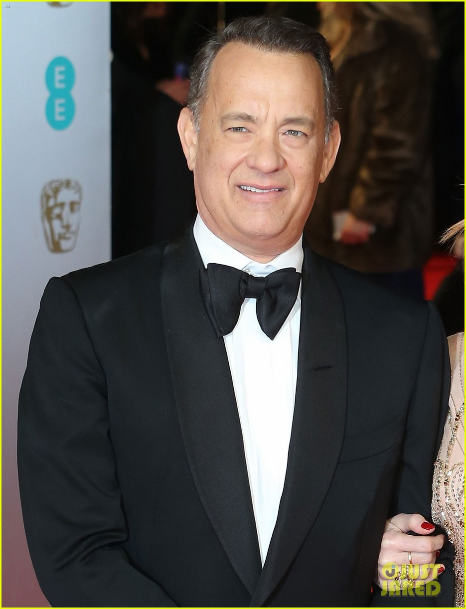 tom hanks rita wilson baftas 2014 red carpet 013054530