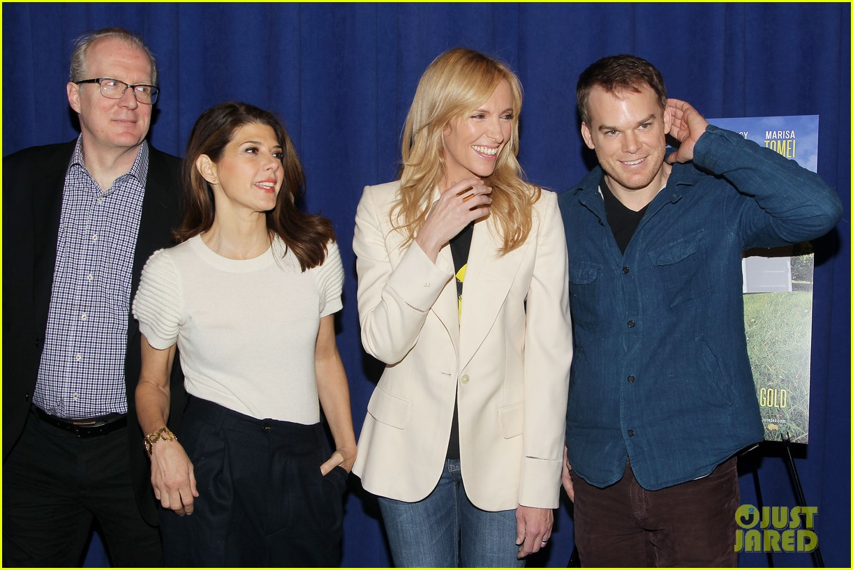 toni collette michael c hall realistic joneses photo call 243057192