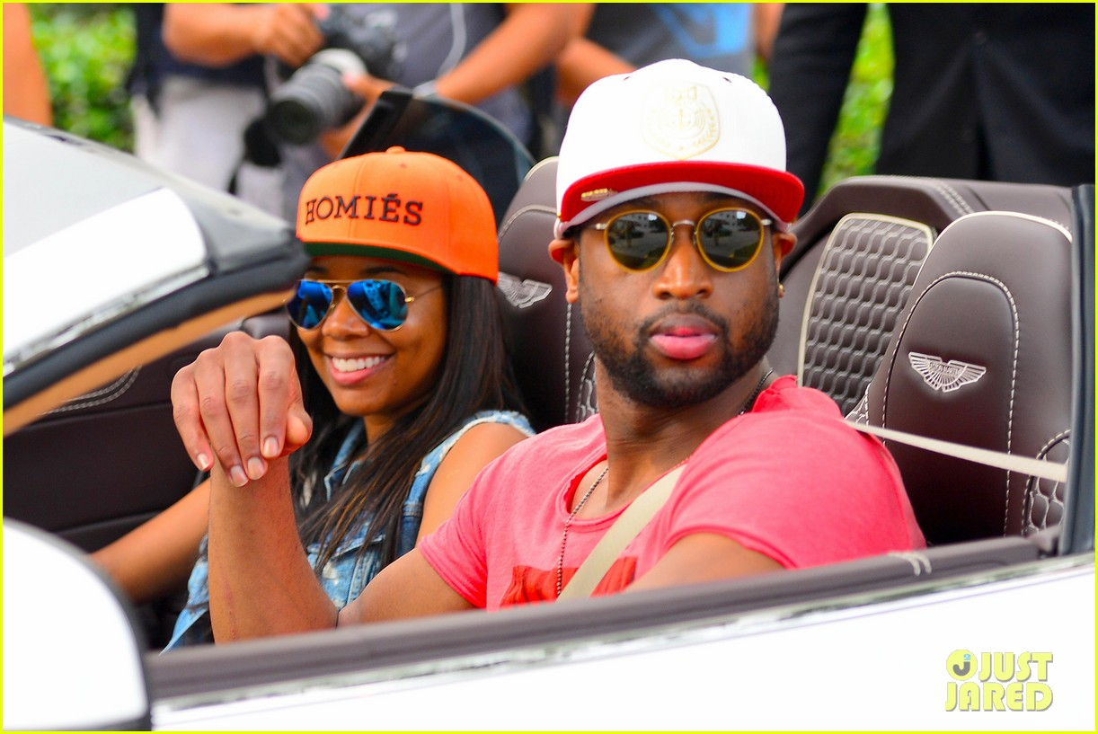 gabrielle union dwyane wade cruise around with the top down in miami 113061648