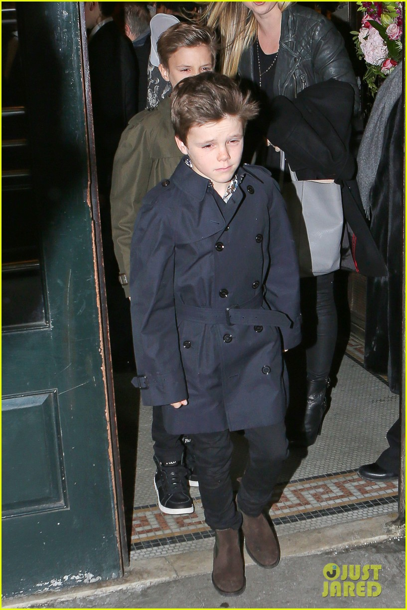 victoria beckham david kids front row fashion show 113050289