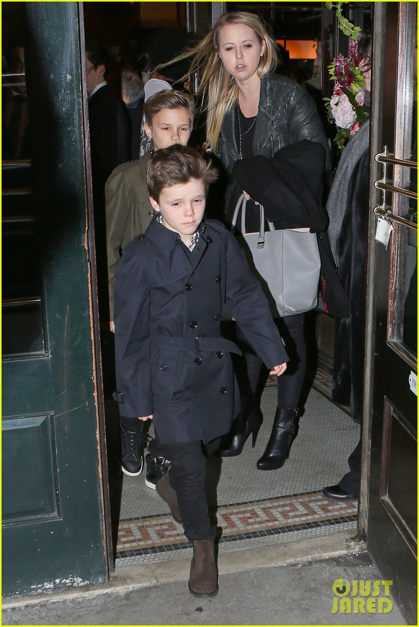 victoria beckham david kids front row fashion show 133050291