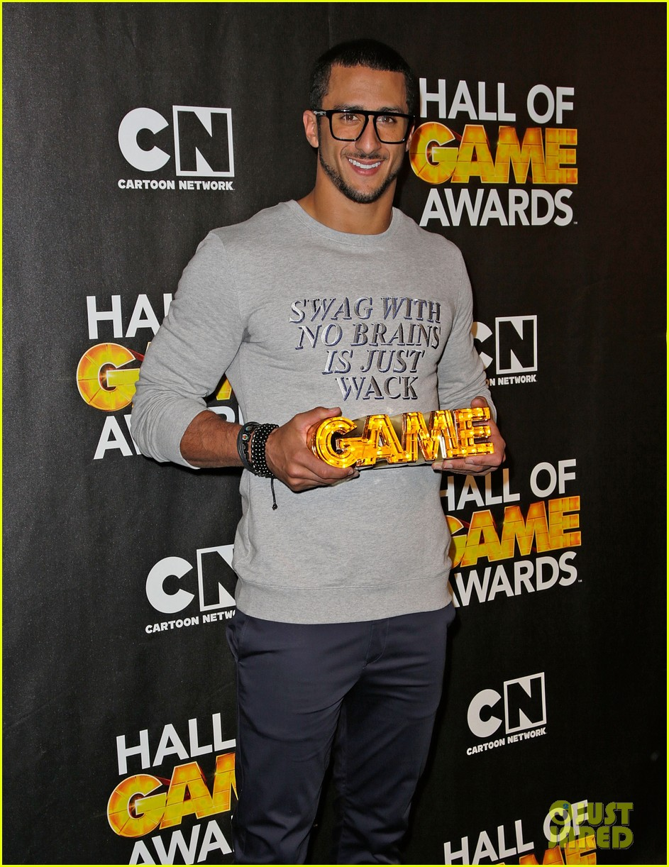 lindsey vonn colin kaepernick hall of game awards 2014 183054224