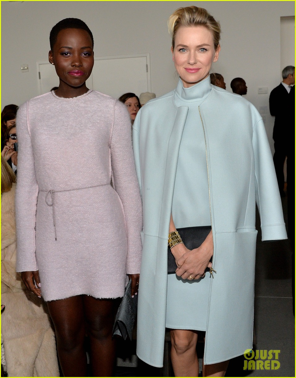 naomi watts lupita nyongo are classy gorgeous at calvin klein fashion show 083052901