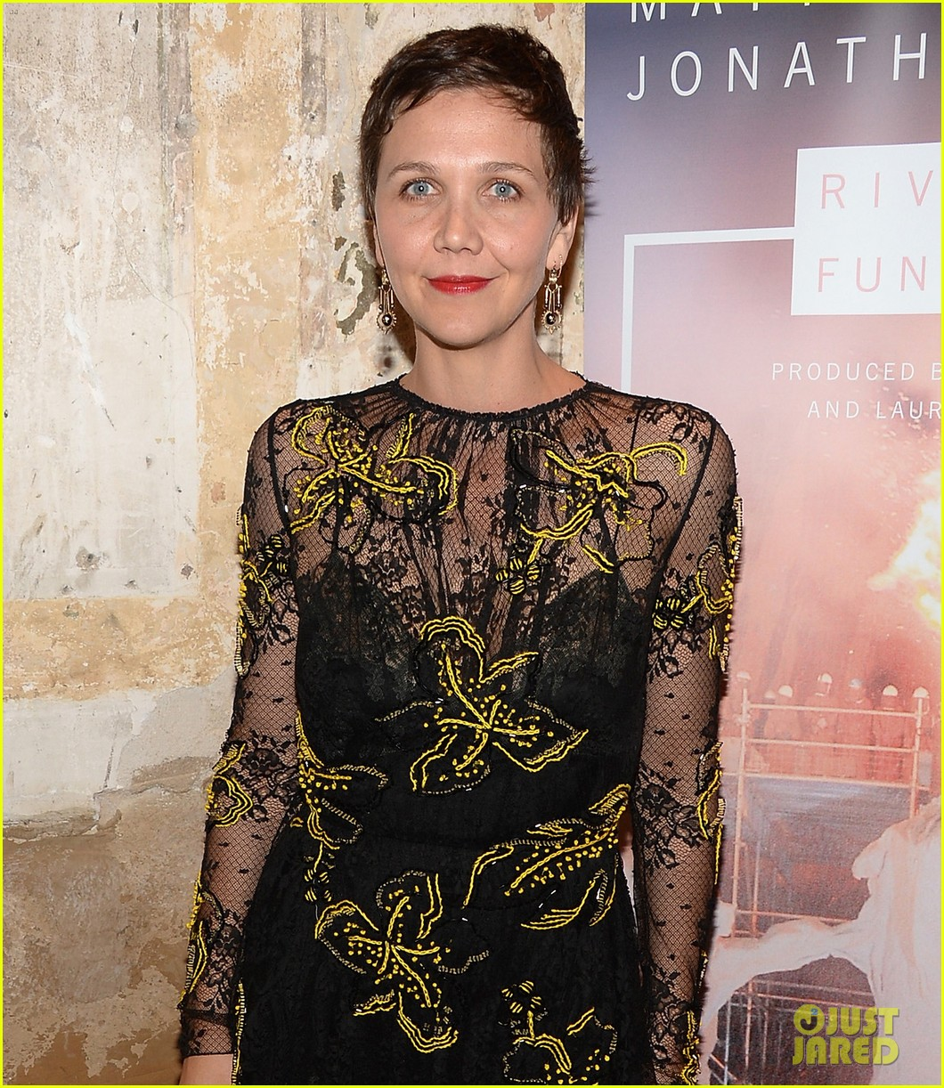kkanye west maggie gyllenhaal river of fundament premiere 083052740