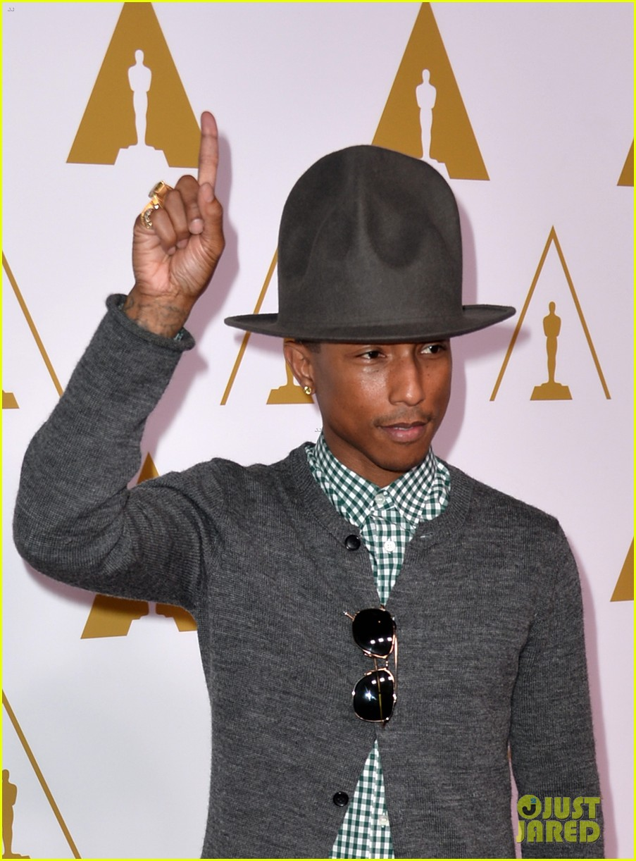 pharrell williams gets new hat for oscars nominees luncheon 013050792