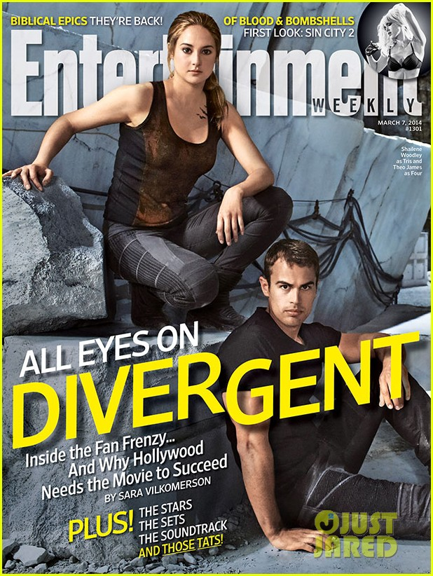 shailene woodley theo james cover ews divergent issue 013060918