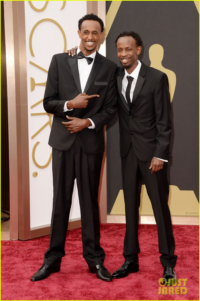 barkhad abdi is the captain now at oscars 2014 red carpet 04