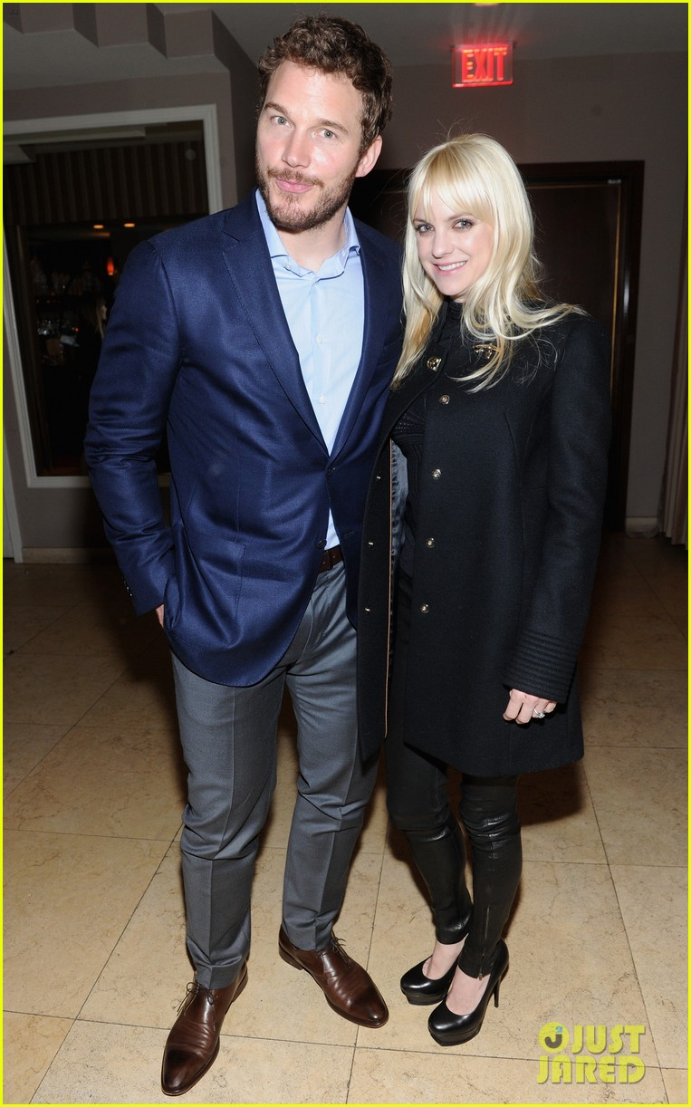 anna faris chris pratt pre oscars party couple 023063634