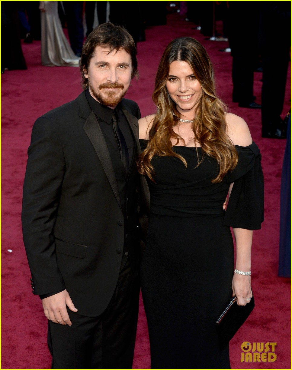 christian bale wife sibi blazic oscars 2014 red carpet 043063974
