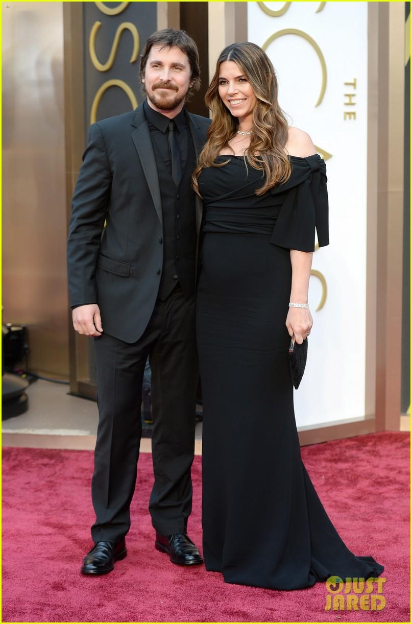 christian bale wife sibi blazic oscars 2014 red carpet 053063975
