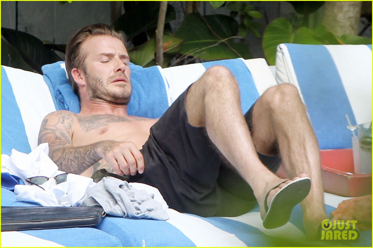 shirtless pictures of david beckham is quite the friday treat 163080580